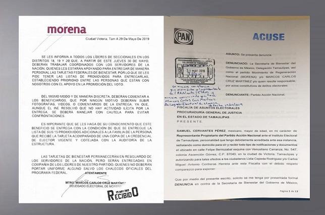 El PAN presenta denuncia contra MORENA y Servidores de la Nación por desvío de recursos, mediante uso de personal de Bienestar y repartición de tarjetas federales.