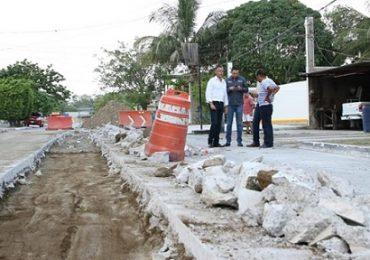 Supervisa Chucho Nader Obras Hidráulicas y de Pavimentación en la Ciudad