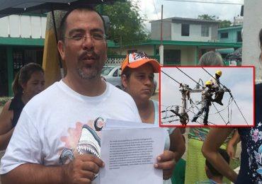 Protestan Familias de Madero contra CFE.