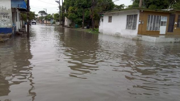 Encharcamientos severos en algunos puntos de Madero reporta PC.