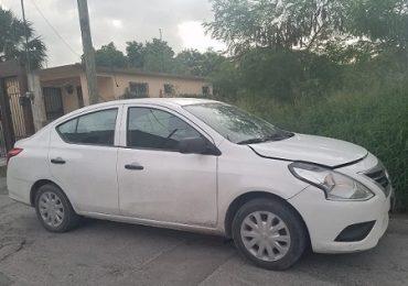 Recuperan vehículo con reporte de robo en Matamoros