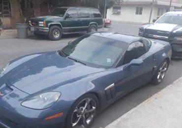 Corvette con reporte de robo recuperado en Nuevo Laredo