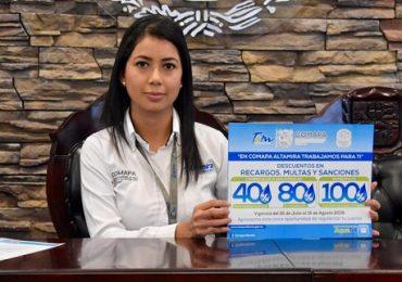 Implementa Comapa Altamira Campaña de Descuentos en Beneficio de sus Usuarios