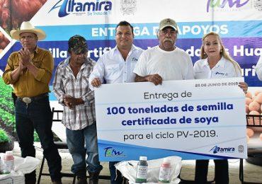 Productores del sector social se benefician con más de 121 tons. de semilla certificada.
