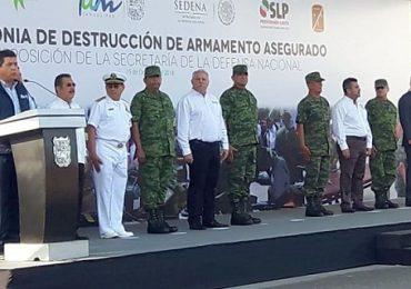 GOBERNADOR DE TAMAULIPAS, POR EL COMBATE AL TRASIEGO DE ARMAS