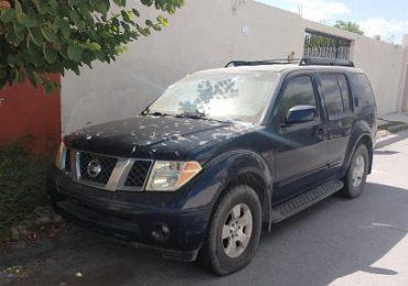 Recupera un vehículo con reporte de robo en Matamoros, Tamaulipas