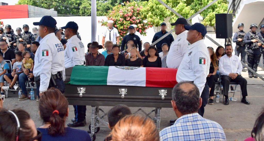 Despiden con Honores a Policía Tampiqueño Caído en Emboscada en NL