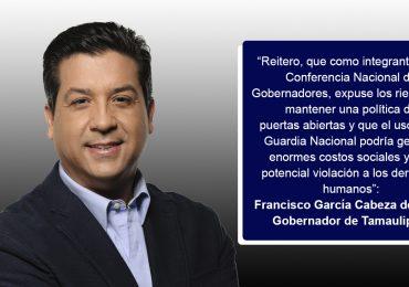 Solicita Gobernador respetar soberanía de estados en tema migratorio