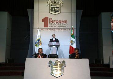 Destaca Adrián Oseguera en su Primer Informe de Gobierno