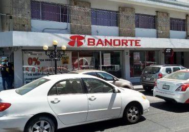 Violento asalto en sucursal de Banorte en Tampico; capturan a solitario ladrón
