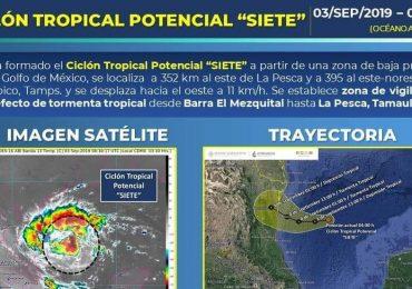 """Activan alerta en La Pesca por impacto de Ciclon tropical """"7"""""""