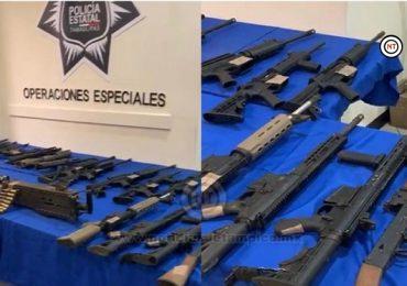 Decomisan armamento de alto poder en Reynosa.