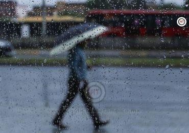 Ingresan dos frentes fríos tren lluvia y baja temperatura para el Sur de Tamaulipas