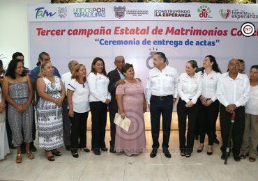 Celebran en Madero Tercera Campaña de Matrimonios Colectivos