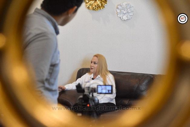 """""""Altamira, tierra de trabajo, progreso y oportunidades'': Alma Laura Amparán"""