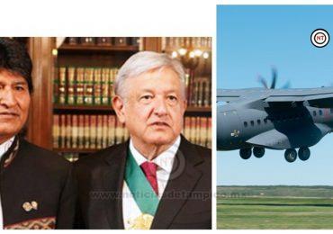 AMLO manda avión militar a Bolivia; va por Evo Morales