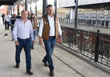 Constata Chucho Nader Avance de los Nuevos Mercados Municipales