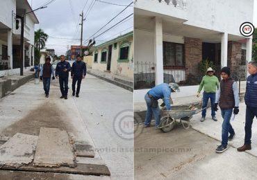 Supervisa Chucho Nader Avance en Trabajos de Pavimentación
