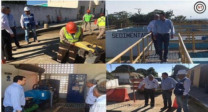 Evalúa Gerente de Comapa Zona Conurbada obras de agua y drenaje