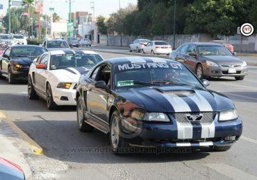 Clubes Mustang del país recorren carreteras de Tamaulipas.
