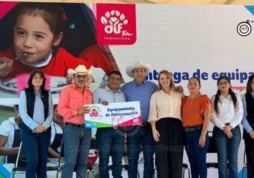 Entregan Gobierno y DIF Tamaulipas equipamiento para desayunadores escolares