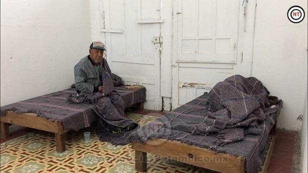 Atienden a 6 indigentes en el refugio temporal
