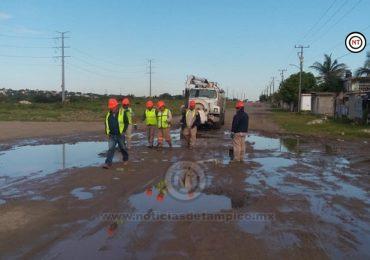 Atiende Compa reportes de fuga de agua en Tampico y Ciudad Madero.