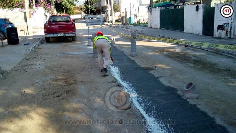 Atenderá COMAPA rezago en la reposición de pavimento en Tampico y Madero