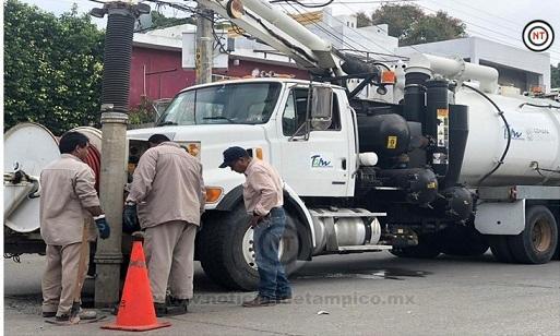 Realiza COMAPA Zona Conurbada trabajos de saneamiento de redes