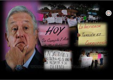 Realizan Protesta contra políticas de AMLO en Altamira.