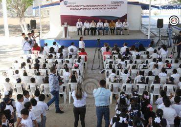 Adrián Oseguera entrega obra pública y beneficia a más de 800 niños