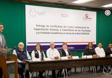 Certifica la Red CONOCER a docentes de la UAT