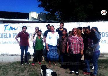 Alumnos de primaria de Madero si clases desde hace dos semanas.