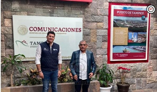 Diputado Miguel Gómez busca se impulse el proyecto de reconversión del puerto de Tampico.