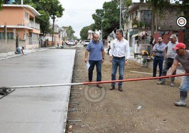 Con más Obras de Pavimentación Seguiremos Modernizando Tampico; Chucho Nader