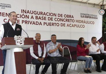 Adrián Oseguera trabaja por un municipio con más desarrollo urbano