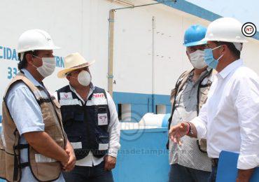 Diputado Miguel Gómez recorre las  plantas de Comapa Altamira.