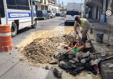 Realiza COMAPA reparación en Zona Centro Tampico