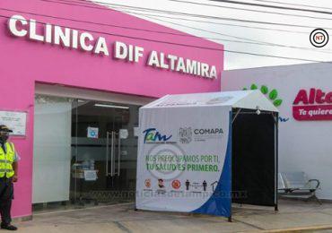 Brinda clínica DIF Altamira atención con todas las medidas preventivas ante el COVID 19