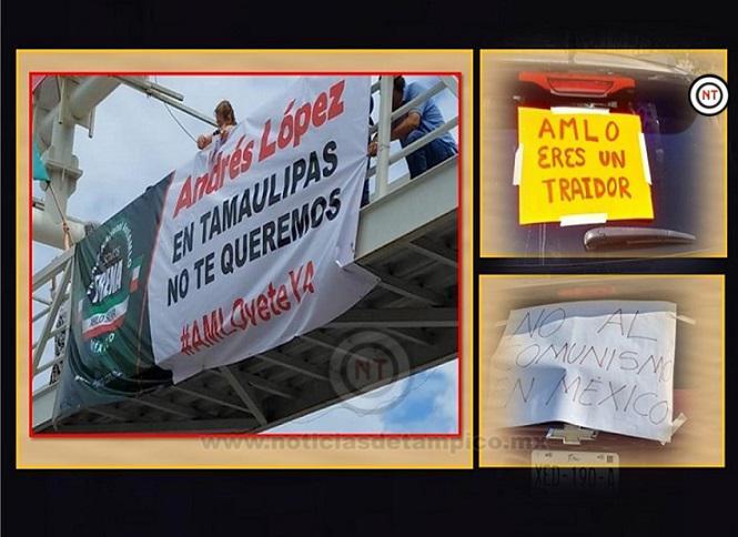 Realizan Mega Caravana anti AMLO en Tampico; Ciudadanos exigen su Renuncia