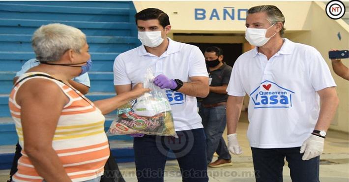 Entrega Chucho Nader más Despensas a Comerciantes Afectados por la Pandemia