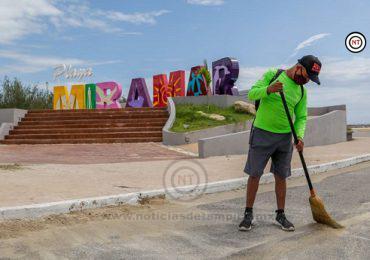 Refuerzan las jornadas de limpieza en Playa Miramar