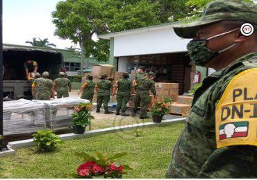 Exhorta Ejército Mexicano a Población del Sur Continuar con Prevención del Covid 19