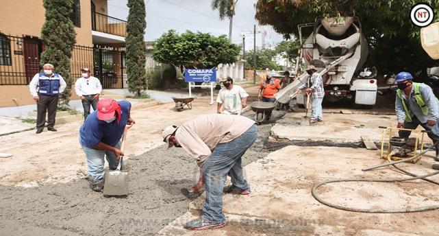 Culmina Comapa pavimentación en Cd. Madero