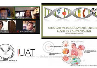 Exponen en la UAT tema de obesidad como factor de riesgo por COVID