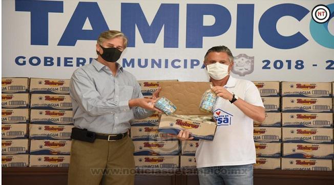 Donan 10 Mil Latas de Atún para las Familias Vulnerables de Tampico