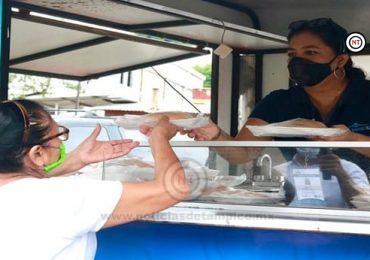 Llega comedor móvil de Bienestar Tampico a colonia Jesús Elías Piña