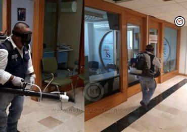 Aplica SNTE, medidas de prevención contra COVID-19 en el edificio sindical
