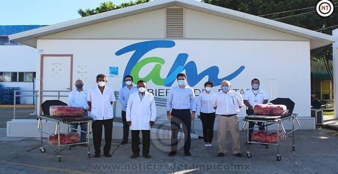Entrega Carlos Fernández material médico a Hospital Civil de Madero