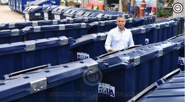Avanza entrega de contenedores